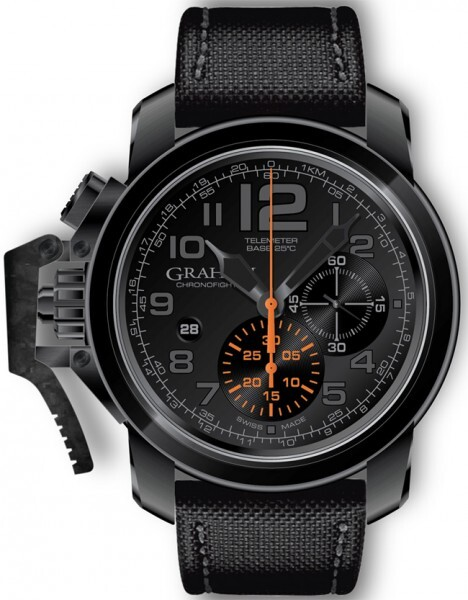 Graham Chronofighter Oversize Herreklokke 2CCAU.B01A Sort/Tekstil - Graham