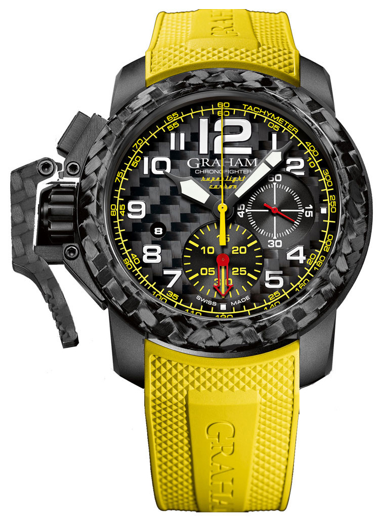 Graham Chronofighter Herreklokke 2CCBK.B15A Sort/Gummi Ø47 mm - Graham