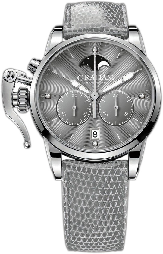 Graham Chronofighter Herreklokke 2CXBS.A02A Grå/Lær Ø36 mm - Graham
