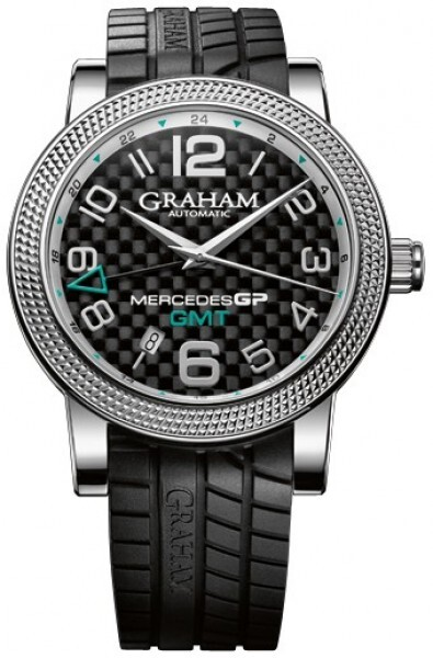 Graham Mercedes GP Time Zone Herreklokke 2MECS.B03A Sort/Gummi Ø48 mm - Graham