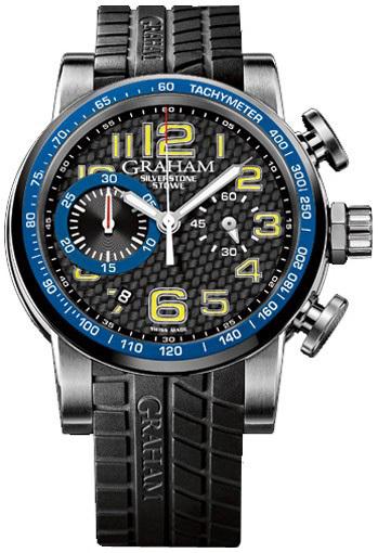 Graham Silverstone Herreklokke 2SAAC.B04A Sort/Gummi Ø44 mm - Graham