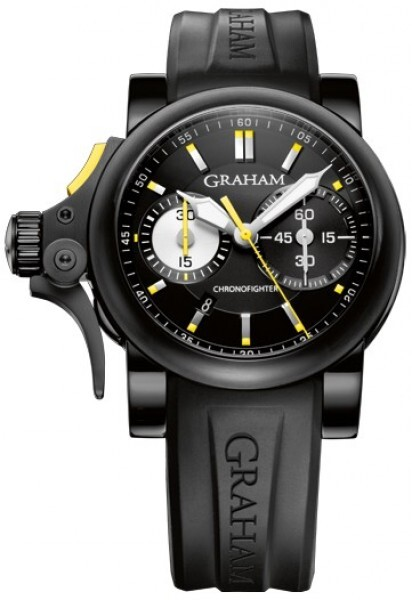 Graham Chronofighter Rac Trigger Herreklokke 2TRAB.B01A Sort/Gummi - Graham