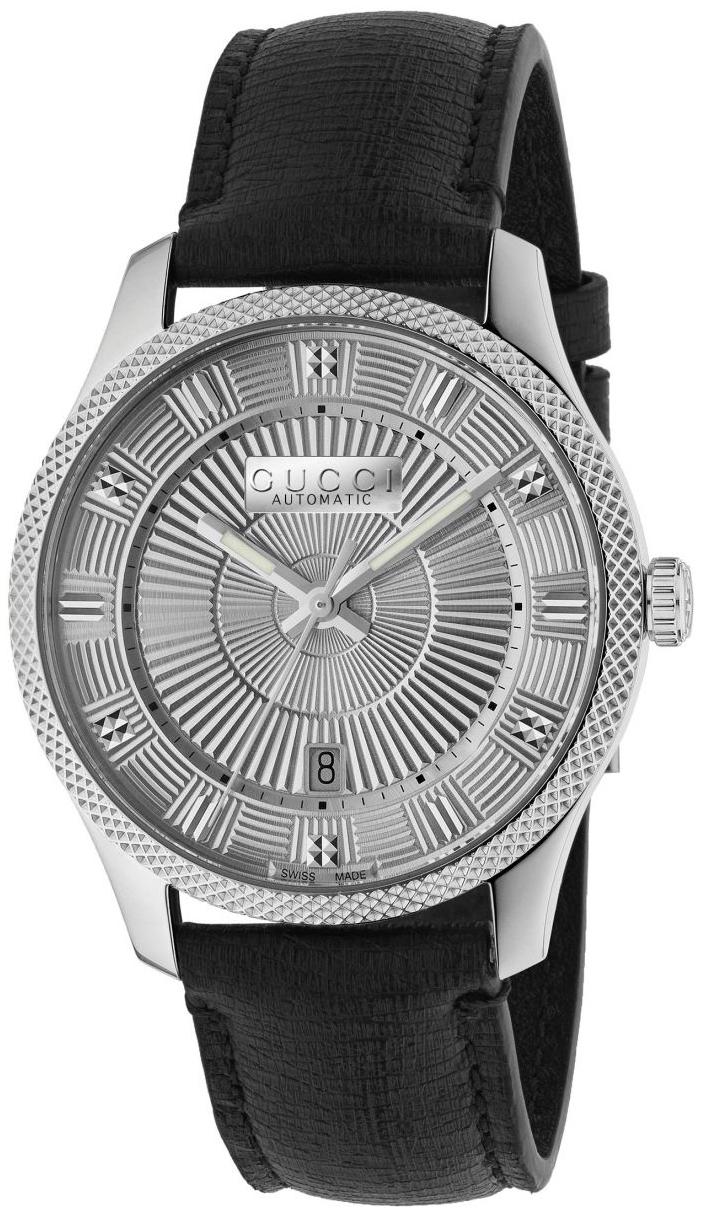 Gucci G-Timeless Herreklokke YA126338 Sølvfarget/Lær Ø40 mm - Gucci