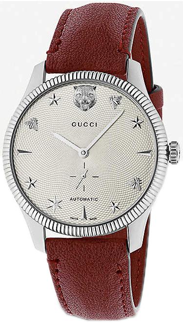 Gucci G-Timeless YA126346 Sølvfarget/Lær Ø40 mm - Gucci
