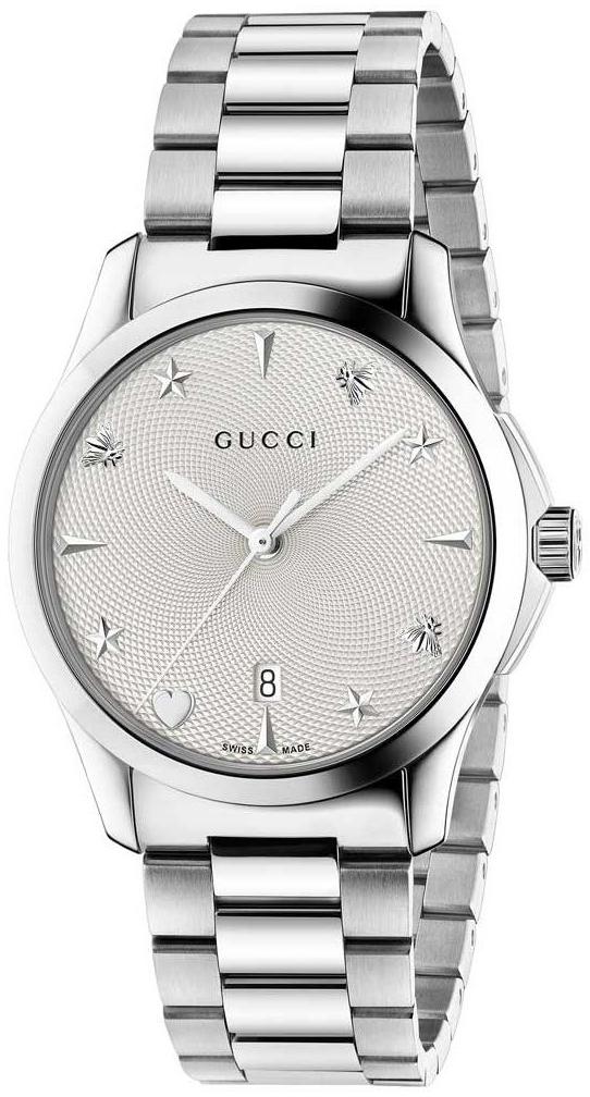 Gucci G-Timeless YA1264028 Sølvfarget/Stål Ø38 mm - Gucci