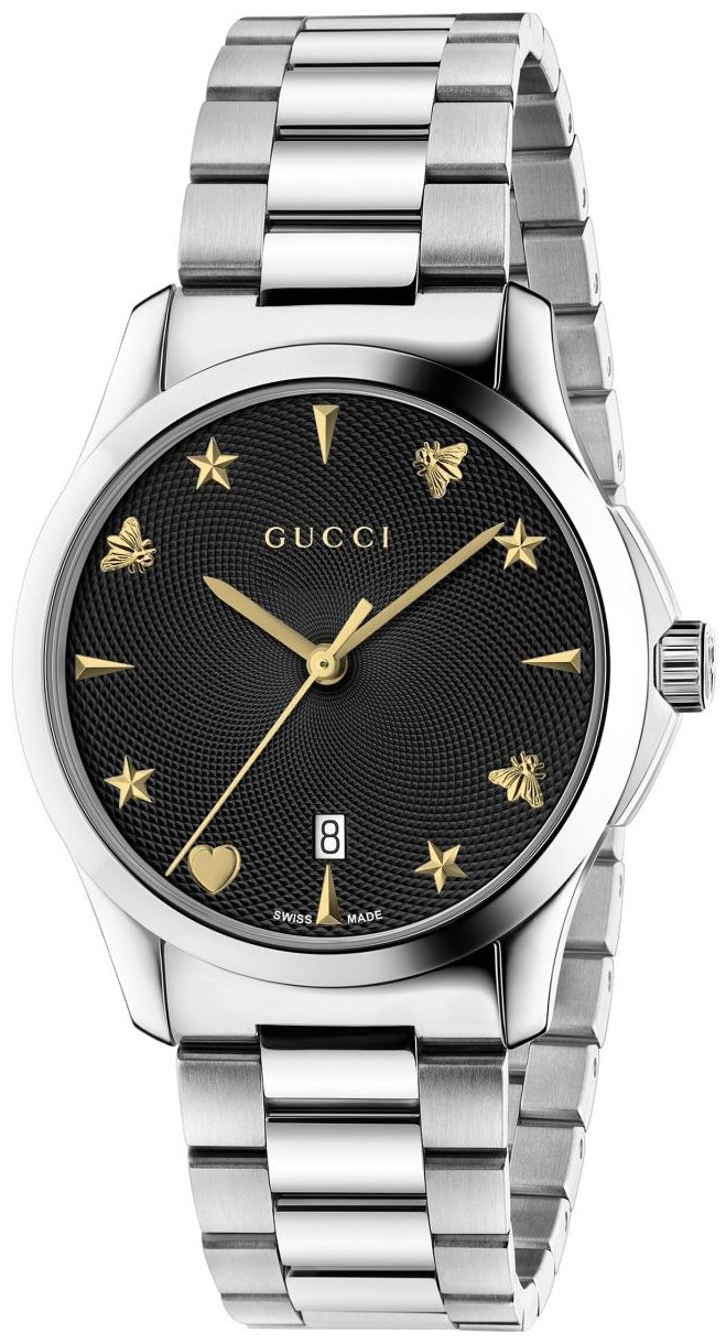 Gucci G-Timeless YA1264029 Sort/Stål Ø38 mm - Gucci