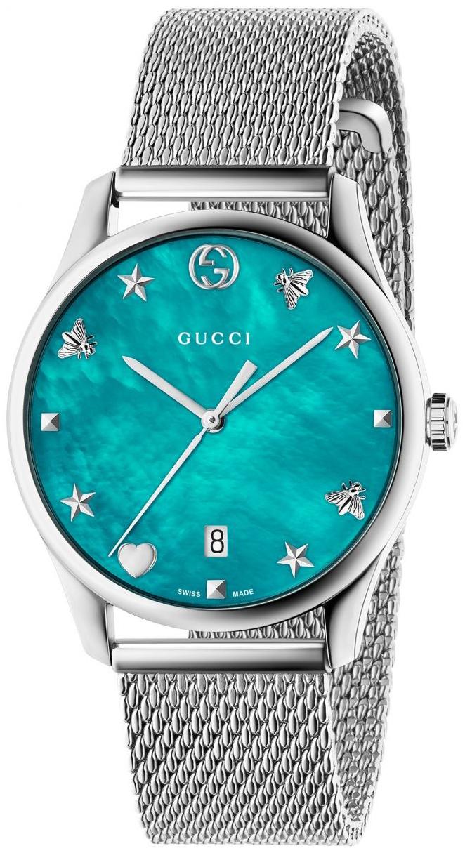 Gucci G-Timeless YA1264039 Blå/Stål Ø36 mm - Gucci