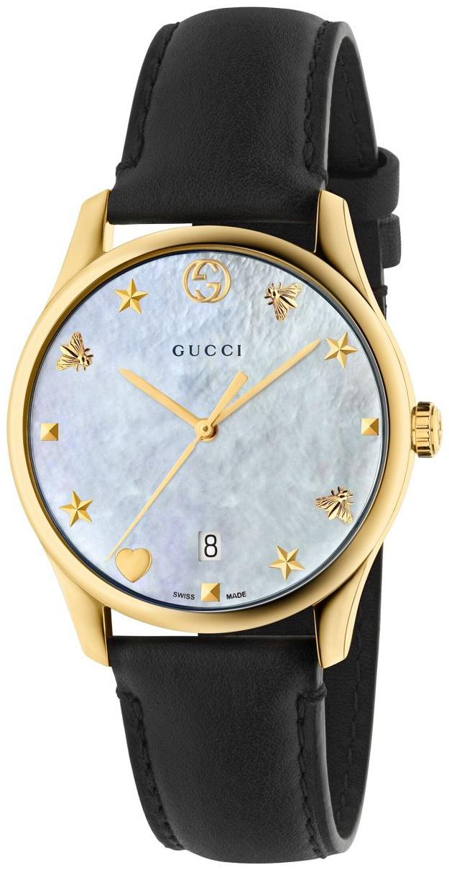 Gucci G-Timeless YA1264044 Hvit/Lær Ø36 mm - Gucci