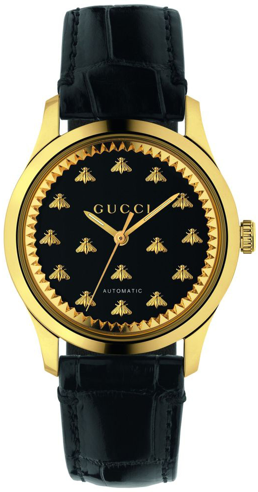 Gucci G-Timeless YA1264120 Sort/Lær Ø38 mm - Gucci