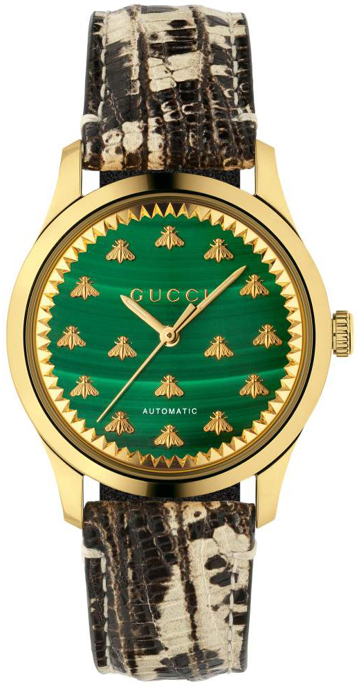 Gucci G-Timeless YA1264134 Grønn/Lær Ø38 mm - Gucci