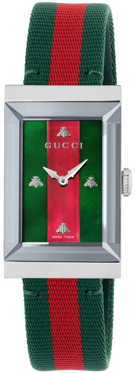 Gucci G- Frame Dameklokke YA147404 Flerfarget/Lær - Gucci