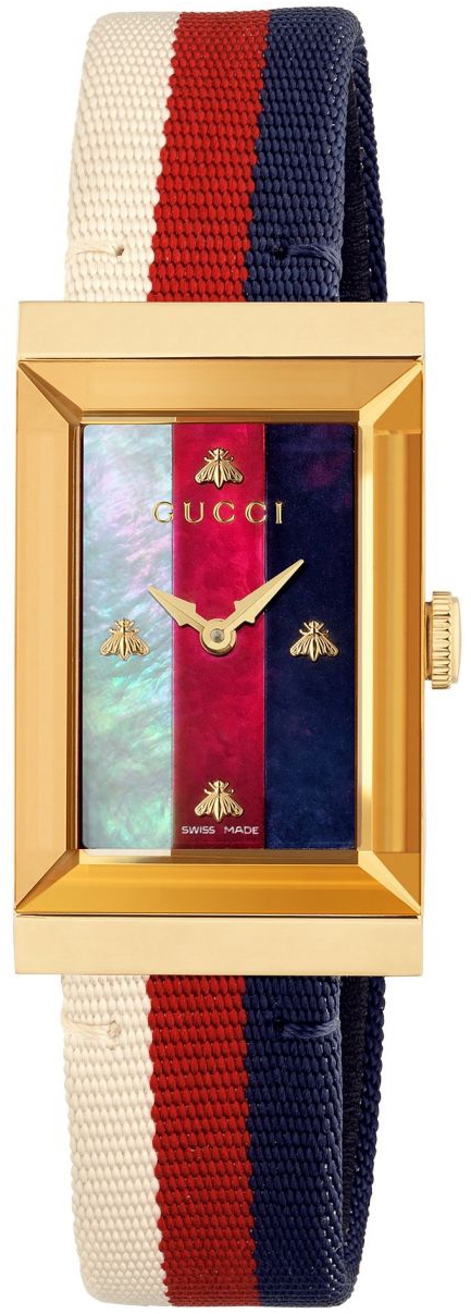 Gucci G- Frame Dameklokke YA147405 Flerfarget/Lær - Gucci