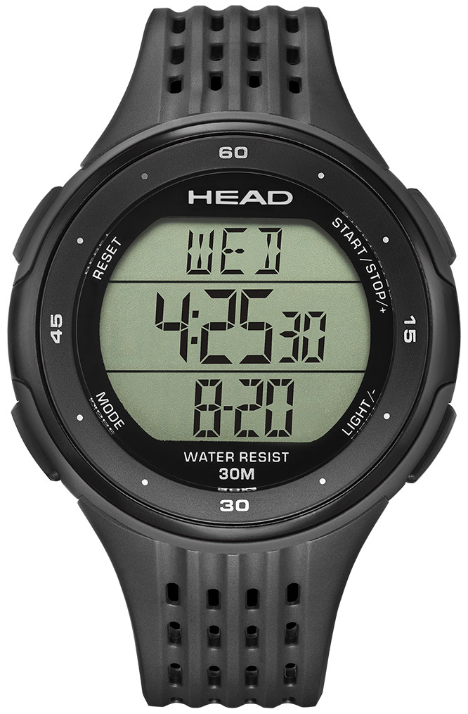 HEAD Downhill Herreklokke HE-102-01 LCD/Gummi Ø47 mm - HEAD