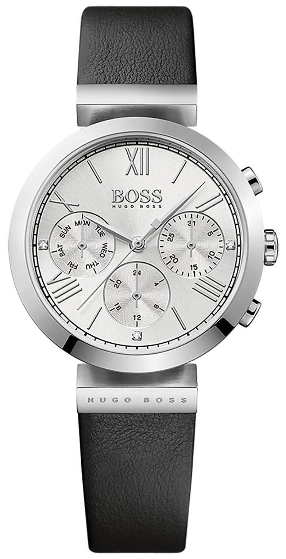 Hugo Boss Chronograph Dameklokke 1502395 Sølvfarget/Lær Ø34 mm - Hugo Boss