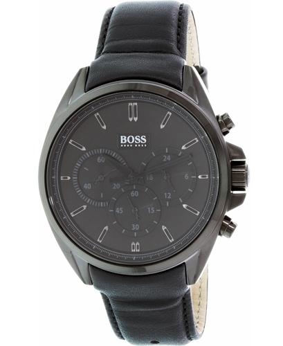 Hugo Boss Chronograph Herreklokke 1513061 Sort/Lær Ø44 mm - Hugo Boss