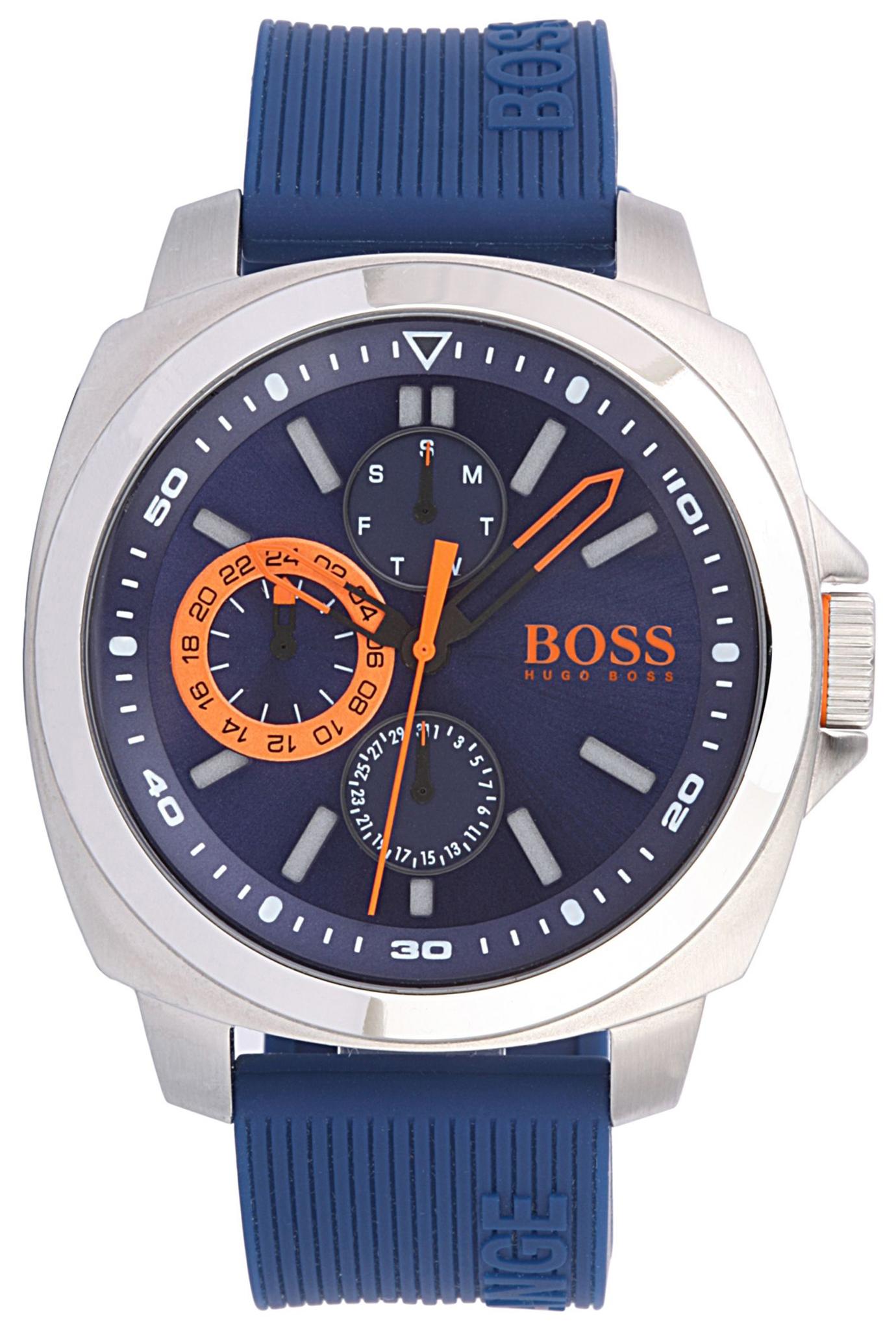 Hugo Boss Brisbane Herreklokke 1513102 Blå/Gummi Ø45 mm - Hugo Boss