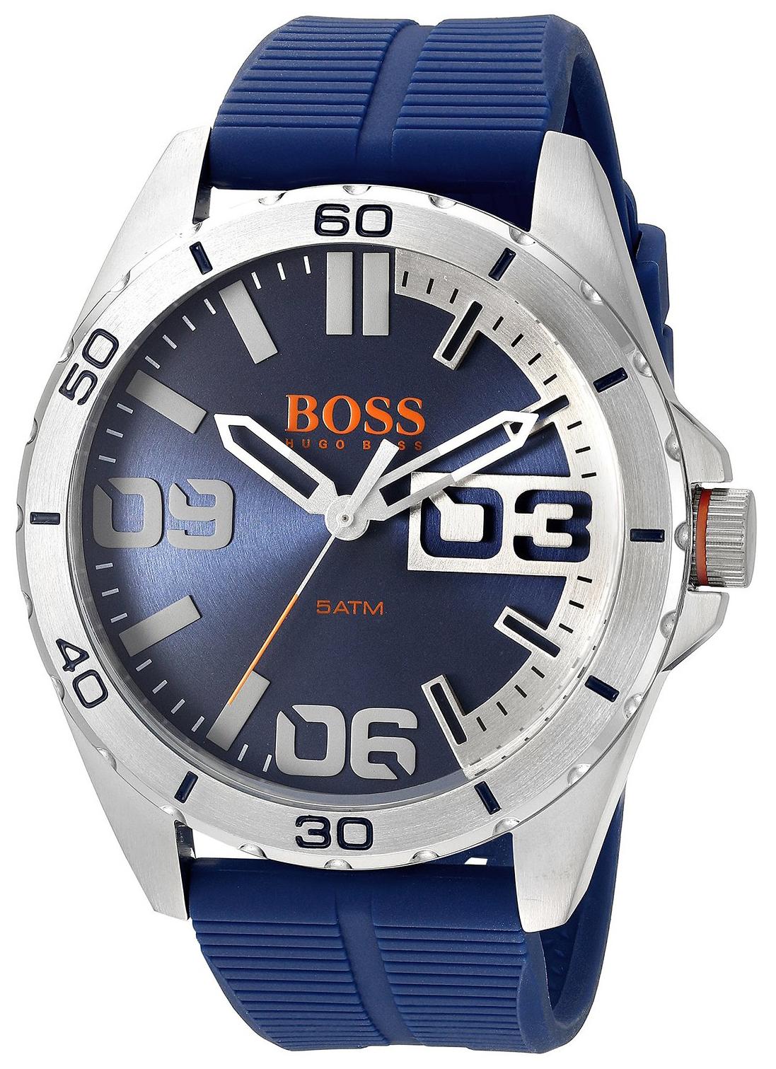 Hugo Boss Berlin Herreklokke 1513286 Blå/Gummi Ø48 mm - Hugo Boss