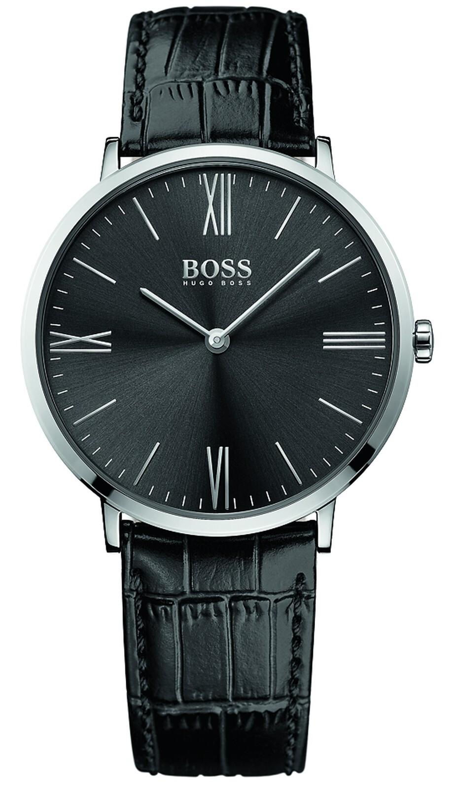 Hugo Boss Jackson Herreklokke 1513369 Sort/Lær Ø40 mm - Hugo Boss