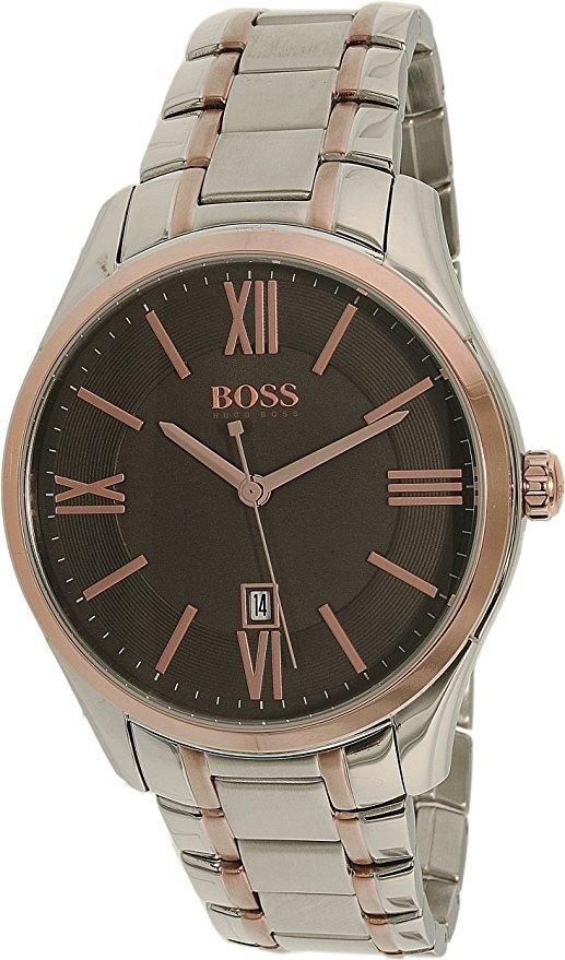 Hugo Boss Ambassador Herreklokke 1513388 Grå/Rose-gulltonet stål - Hugo Boss