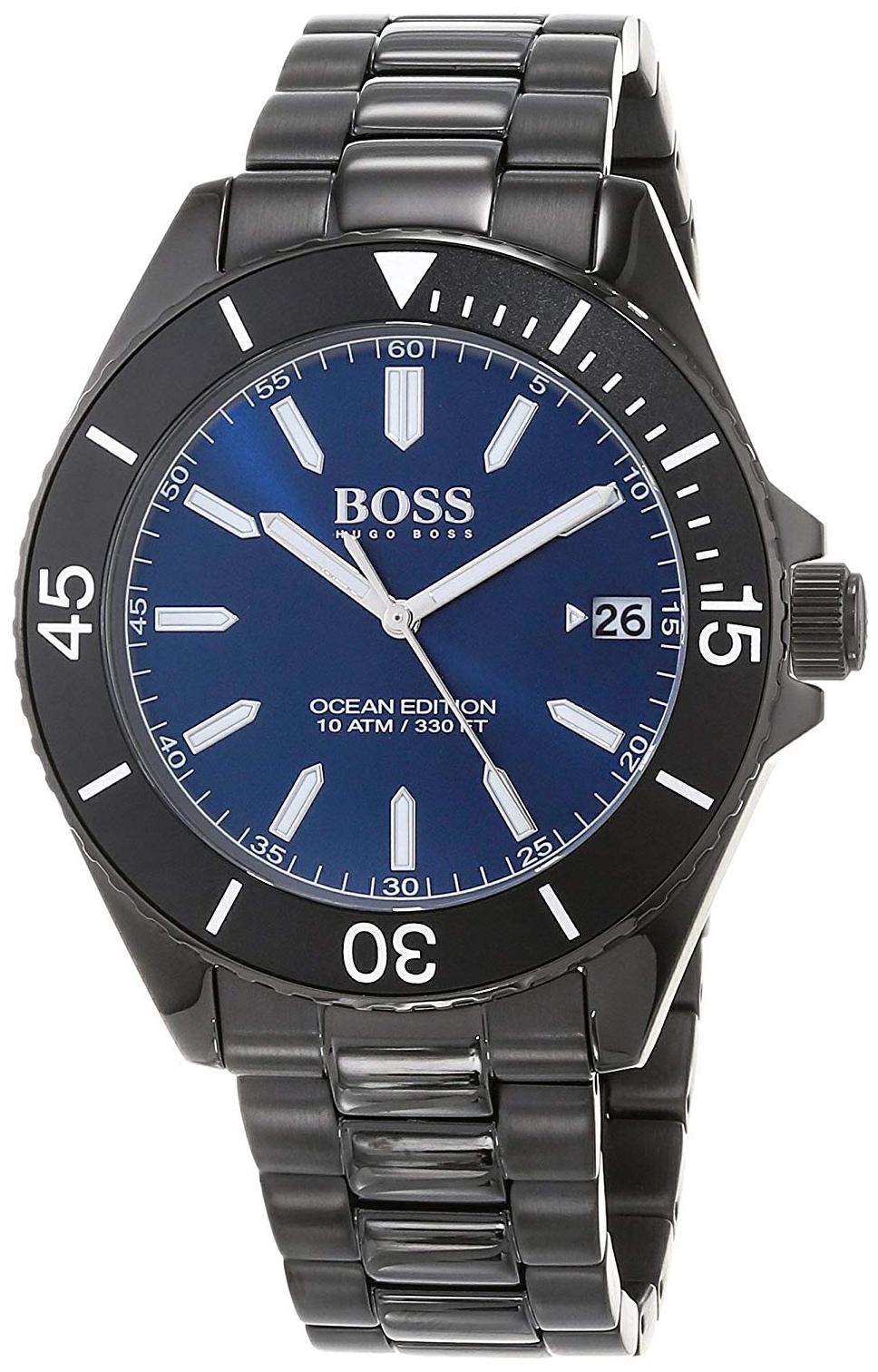 Hugo Boss Ocean Herreklokke 1513559 Blå/Stål Ø44 mm - Hugo Boss