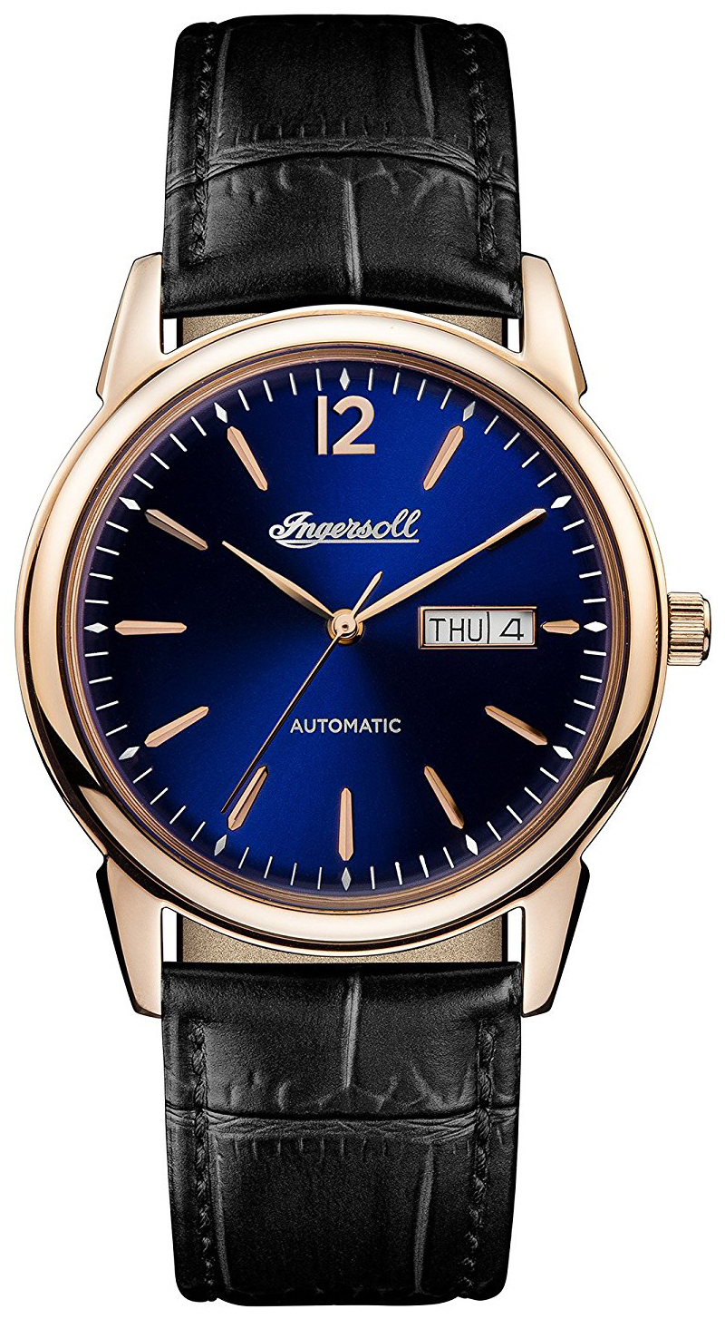 Ingersoll The New Haven Herreklokke I00504 Blå/Lær Ø40 mm - Ingersoll