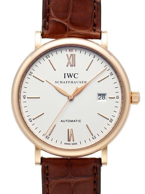 IWC Portofino Herreklokke IW356504 Sølvfarget/Lær Ø40 mm - IWC