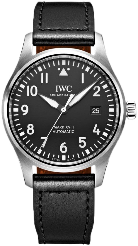 IWC Pilots Herreklokke IW327009 Sort/Lær Ø40 mm - IWC