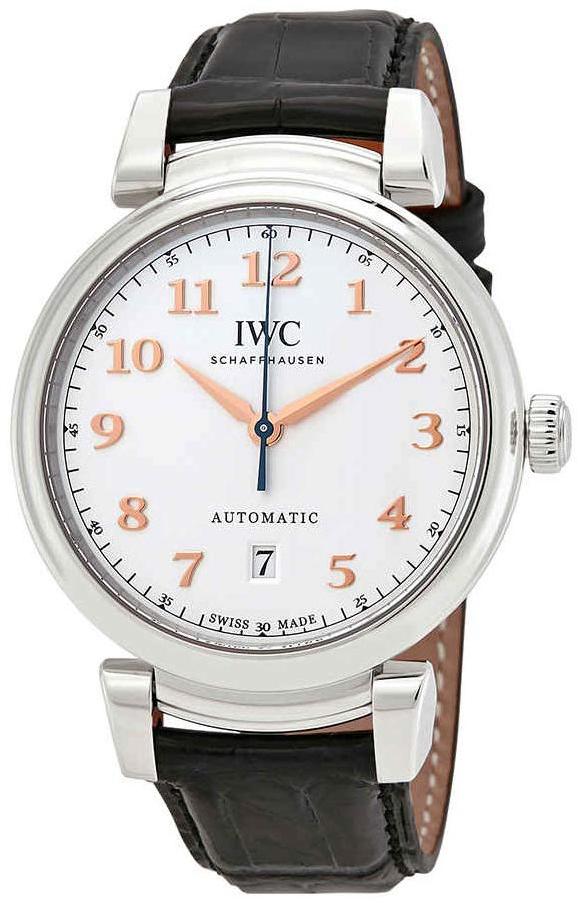 IWC Da Vinci Herreklokke IW356601 Sølvfarget/Lær Ø40 mm - IWC