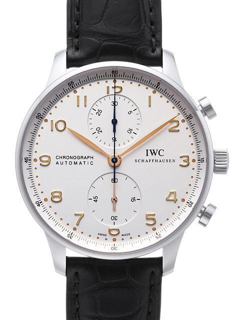 IWC Portuguese Herreklokke IW371445 Sølvfarget/Lær Ø40.9 mm - IWC