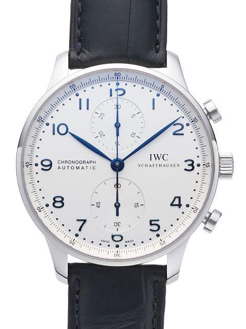 IWC Portuguese Herreklokke IW371446 Sølvfarget/Lær Ø40.9 mm - IWC