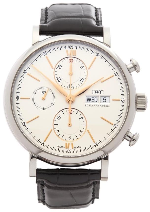 IWC Portofino Herreklokke IW391022 Sølvfarget/Lær Ø42 mm - IWC