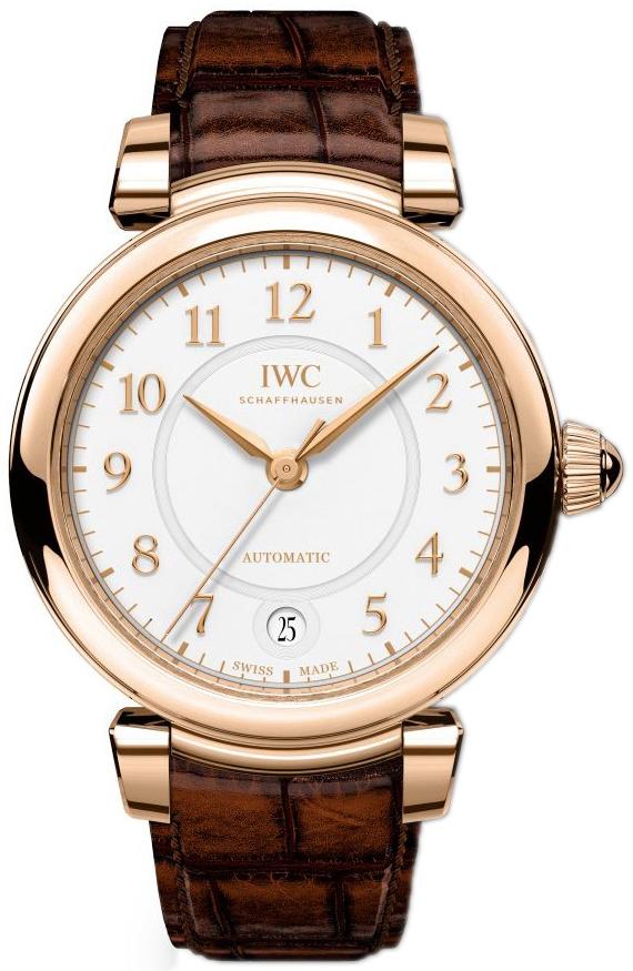IWC Da Vinci Dameklokke IW458309 Hvit/Lær Ø36 mm - IWC