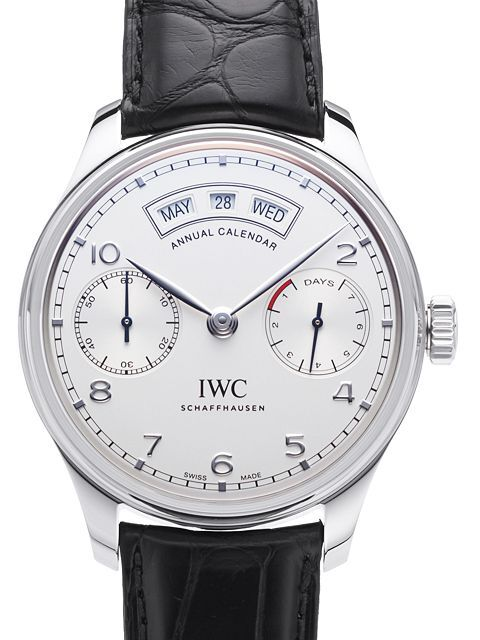 IWC Portuguese Herreklokke IW503501 Sølvfarget/Lær Ø44.2 mm - IWC