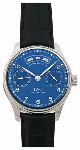 IWC Portuguese Herreklokke IW503502 Blå/Lær Ø44.2 mm - IWC