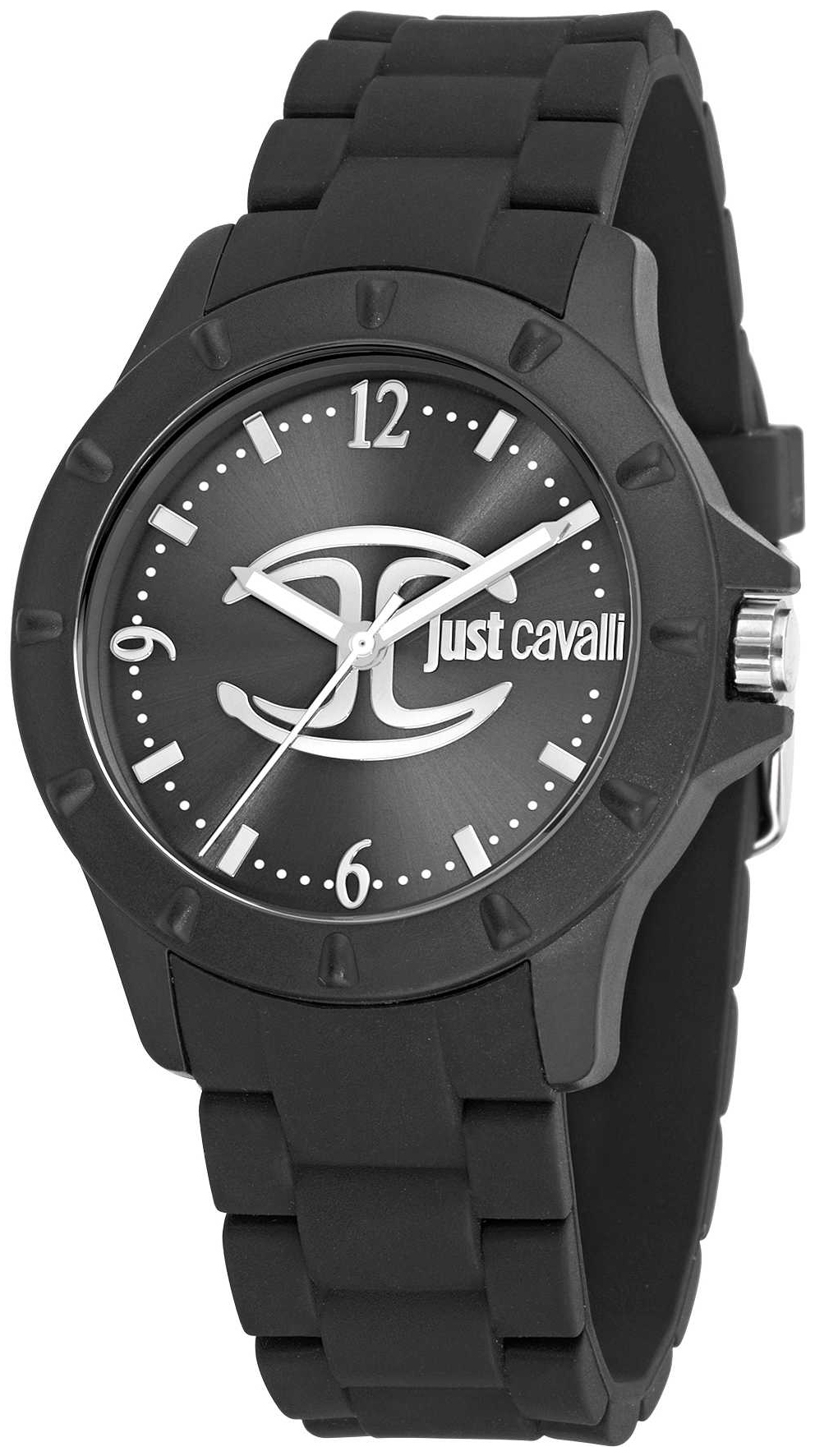 Just Cavalli Just Juyce Dameklokke R7253599511 Sort/Gummi Ø40 mm - Just Cavalli