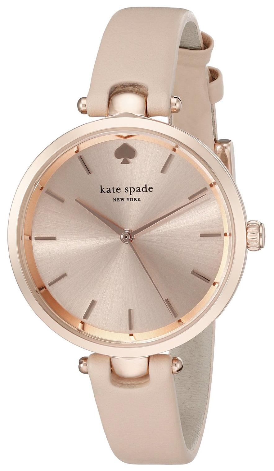 Kate Spade 99999 Dameklokke 1YRU0812 Rosegullfarget/Lær Ø34 mm - Kate Spade