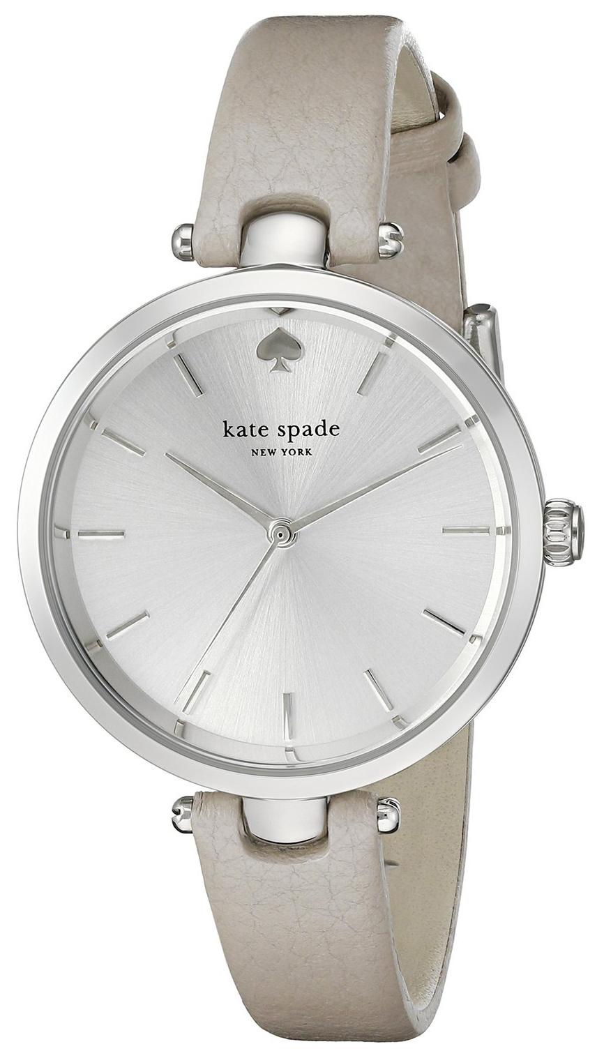 Kate Spade 99999 Dameklokke 1YRU0813 Sølvfarget/Lær Ø34 mm - Kate Spade
