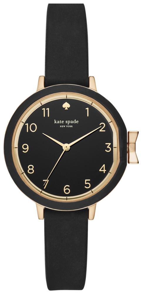 Kate Spade 99999 Dameklokke KSW1352 Sort/Gummi Ø34 mm - Kate Spade
