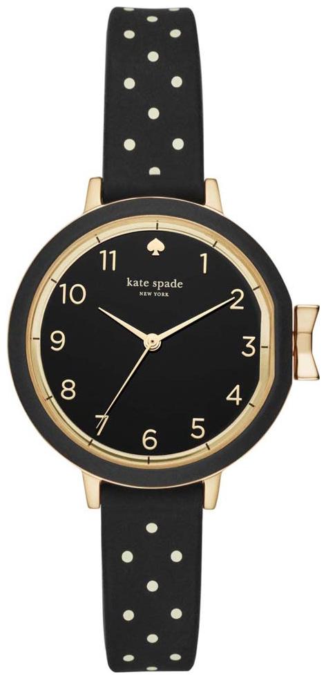 Kate Spade Holland Dameklokke KSW1355 Sort/Gummi Ø34 mm - Kate Spade