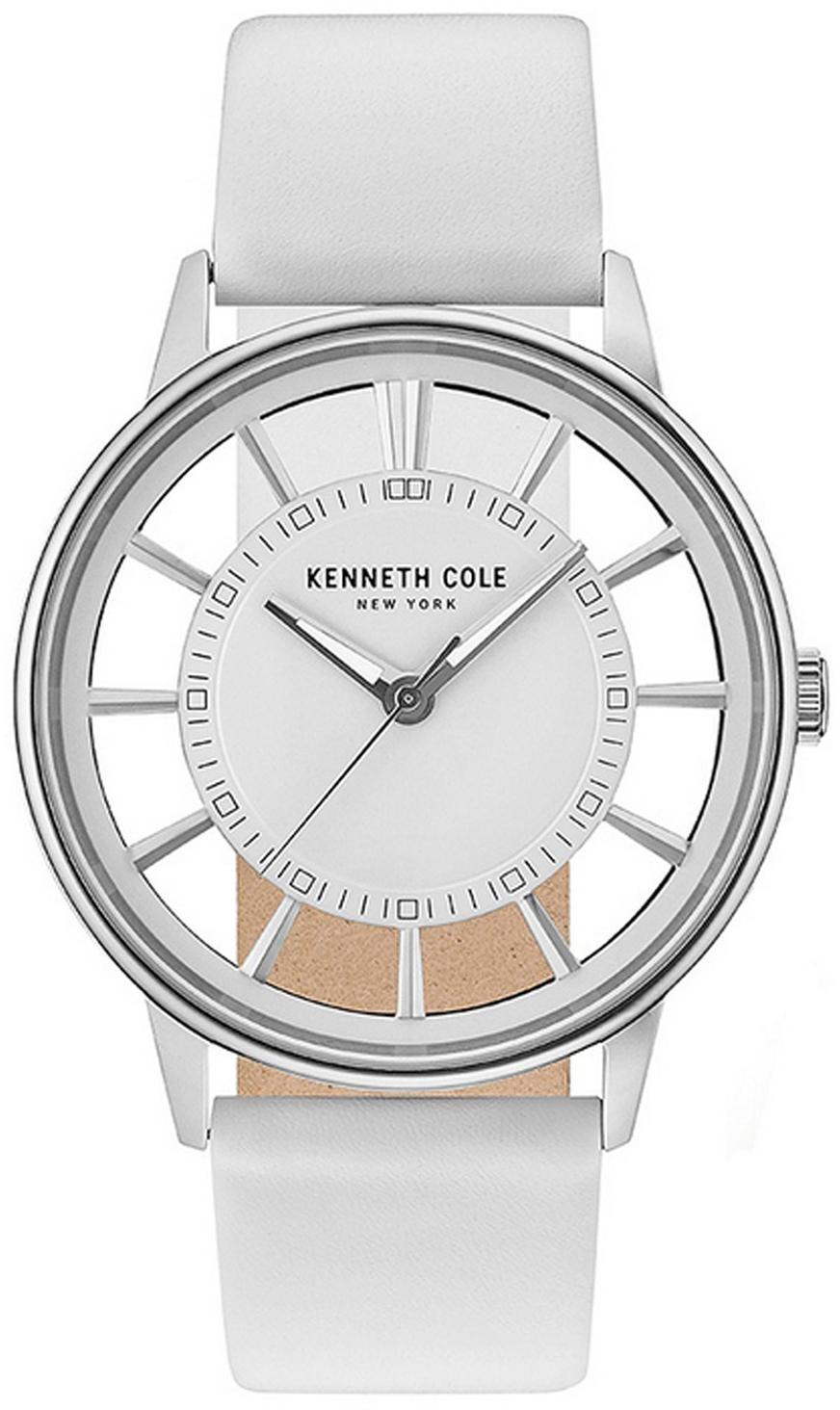 Kenneth Cole Transparency Herreklokke KC14994004 Hvit/Lær Ø44 mm - Kenneth Cole