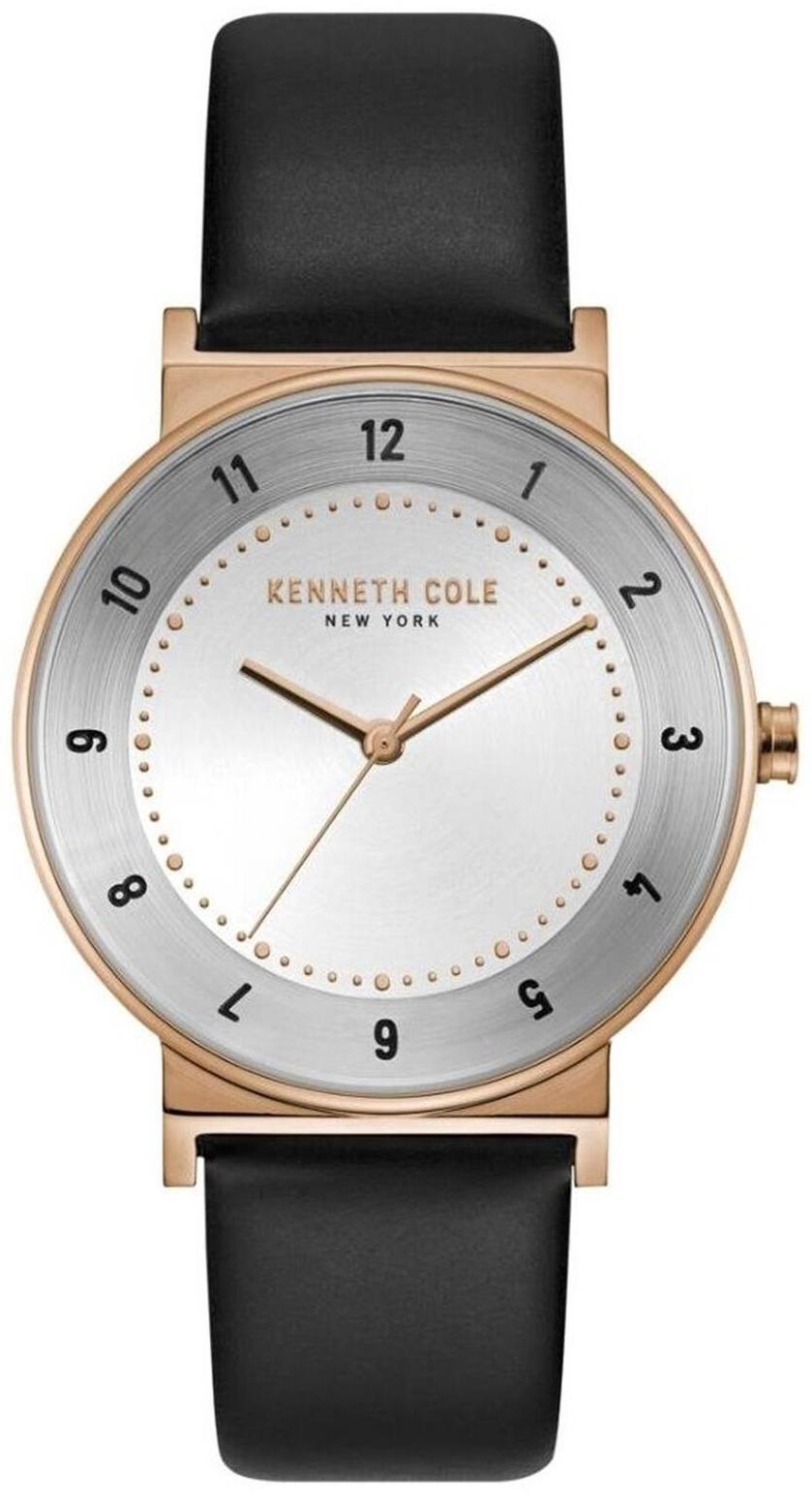 Kenneth Cole Classic Herreklokke KC50074003 Sølvfarget/Lær Ø40 mm - Kenneth Cole