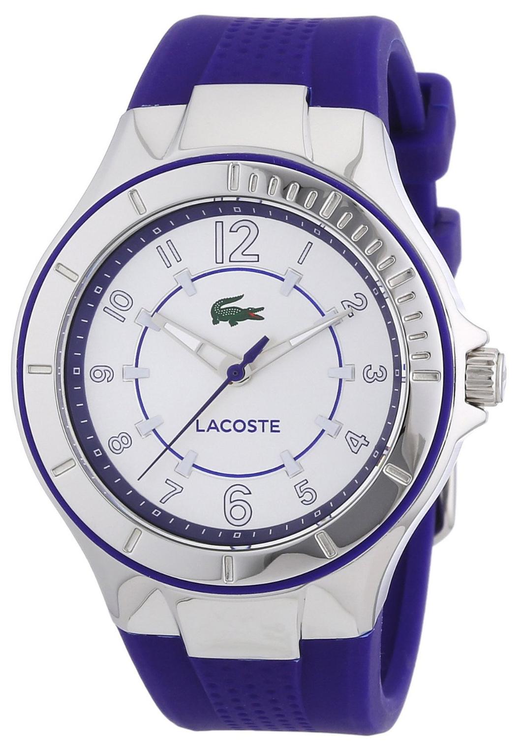 Lacoste Acapulco Dameklokke 2000760 Sølvfarget/Gummi Ø38 mm - Lacoste