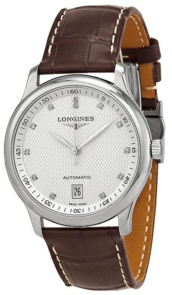 Longines Master Herreklokke L2.628.4.77.3 Sølvfarget/Lær Ø38.5 mm - Longines