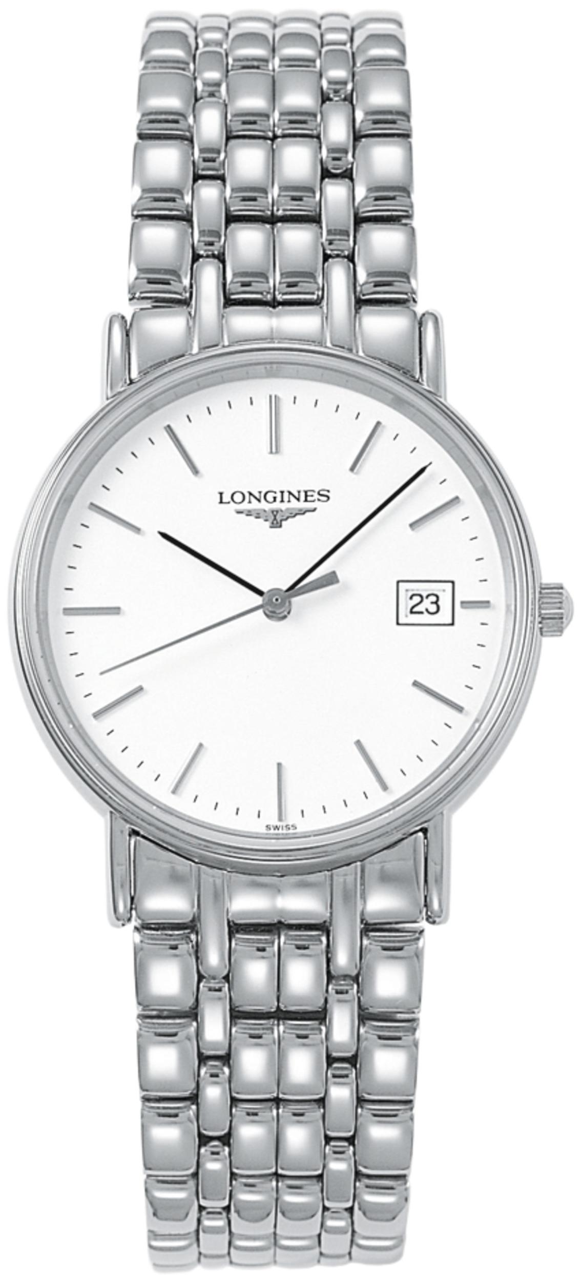 Longines Presences Herreklokke L4.819.4.12.6 Hvit/Stål Ø33 mm - Longines