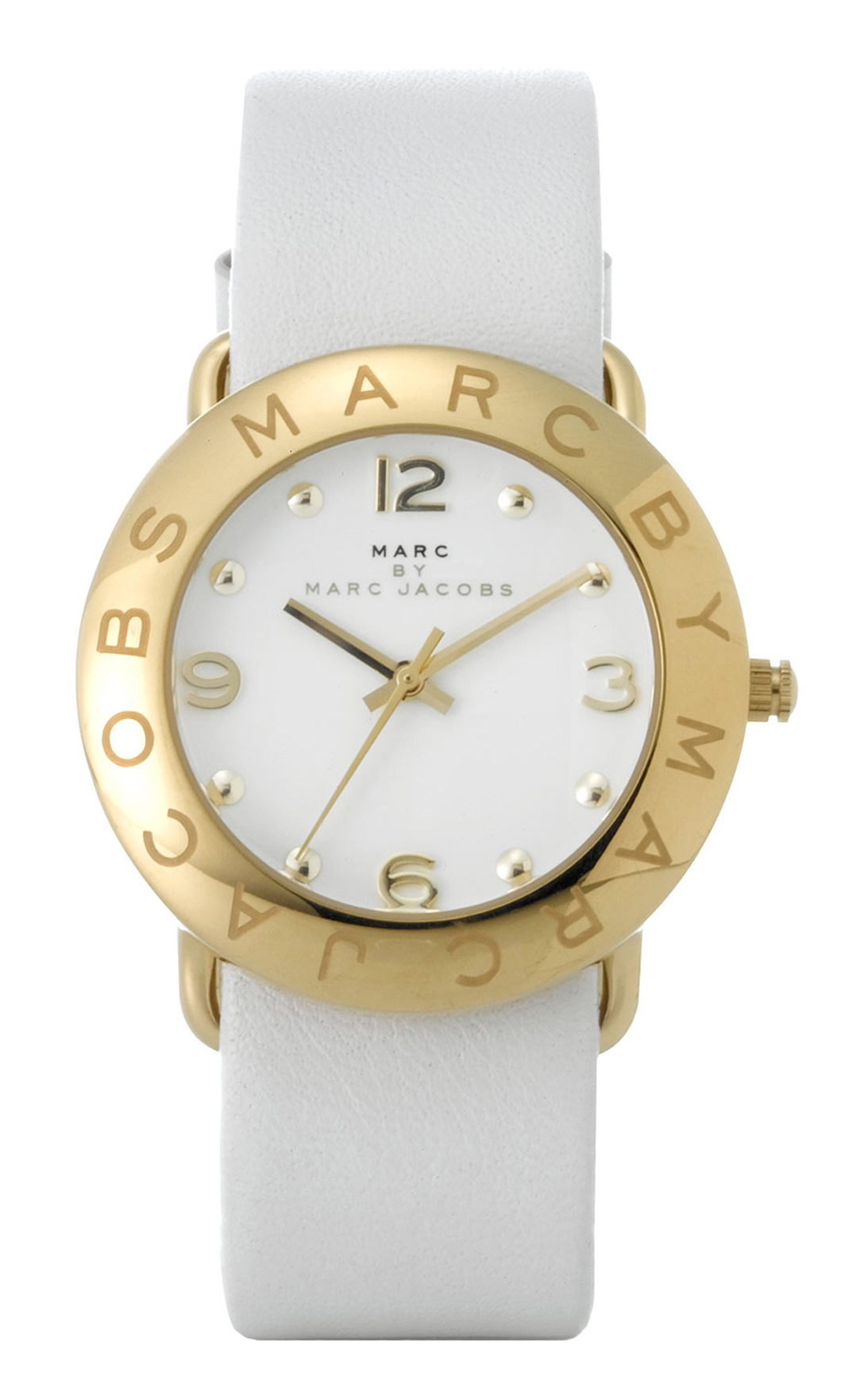 Marc by Marc Jacobs Amy Dameklokke MBM1150 Hvit/Lær Ø36 mm - Marc by Marc Jacobs