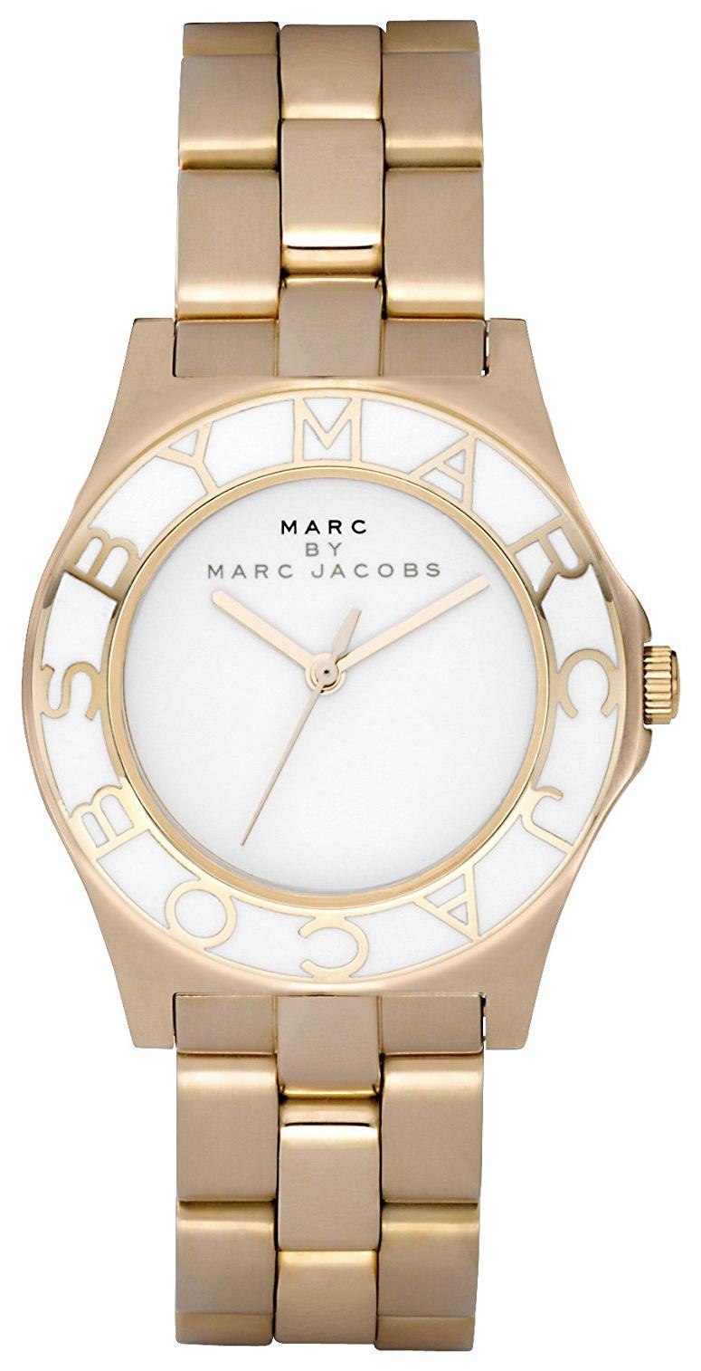 Marc by Marc Jacobs Blade Dameklokke MBM3050 Hvit/Gulltonet stål - Marc by Marc Jacobs