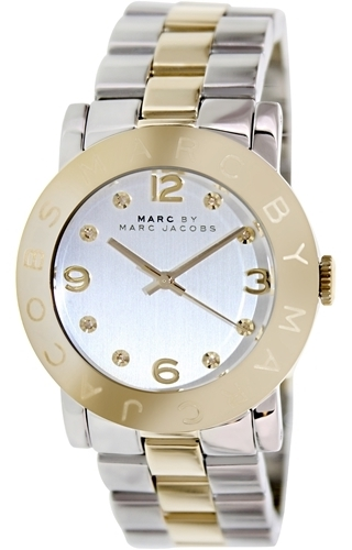 Marc by Marc Jacobs Amy Dameklokke MBM3139 Sølvfarget/Gulltonet - Marc by Marc Jacobs