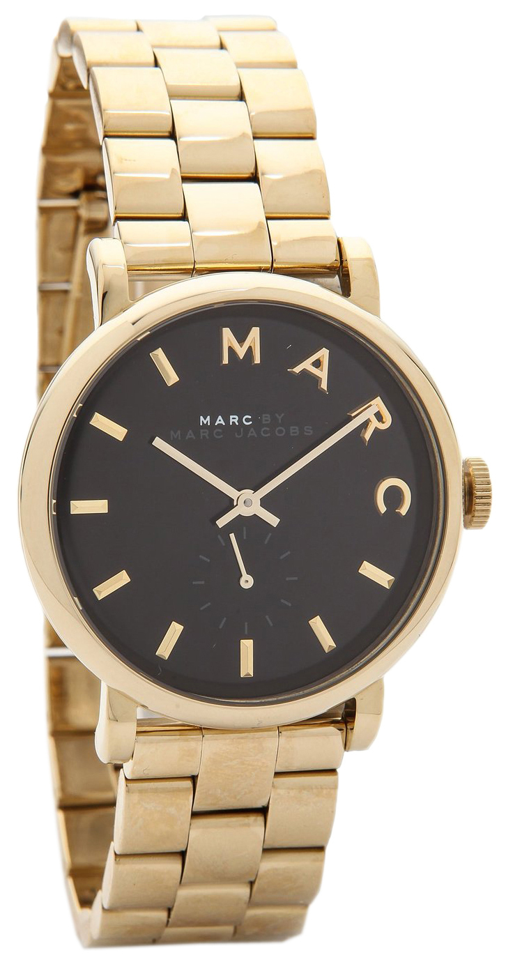 Marc by Marc Jacobs Baker Dameklokke MBM3355 Sort/Gulltonet stål - Marc by Marc Jacobs