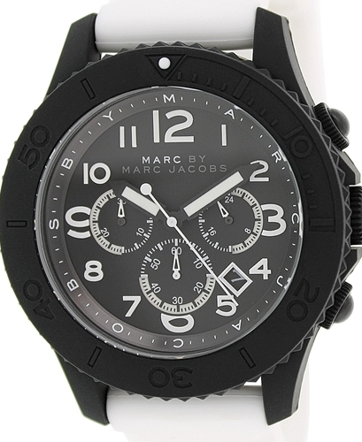 Marc by Marc Jacobs Rock Chrono Herreklokke MBM5525 Sort/Gummi Ø46 mm - Marc by Marc Jacobs