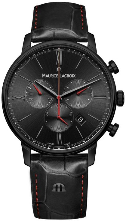Maurice Lacroix Eliros Herreklokke EL1098-PVB01-310-1 Sort/Lær Ø40 - Maurice Lacroix